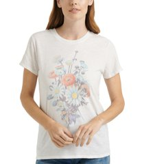 lucky brand antique bouquet graphic t-shirt