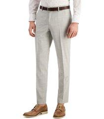 hugo men's slim-fit superflex stretch melange wool suit pants
