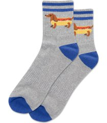 hot sox men's hot dog quarter socks