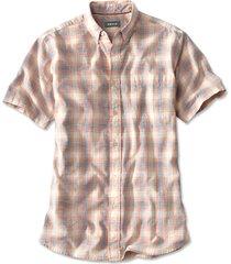 slub ombre short-sleeved shirt / slub ombre short-sleeved shirt, tangerine, x large