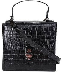 bolsa shoestock mini bag satchel croco feminina