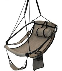 sunnydaze decor hanging hammock chair swing with armrests side pouch and footrest