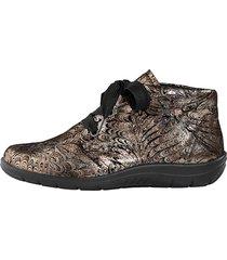 skor av mjukt skinn naturläufer guldfärgad