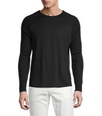 boss hugo boss men's terell pullover sweater - black - size xxxl