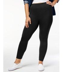hue plus size seamless leggings