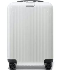 men's rimowa essential lite cabin 22-inch wheeled carry-on - white