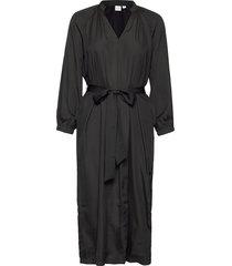 split-neck midi dress knälång klänning grå gap