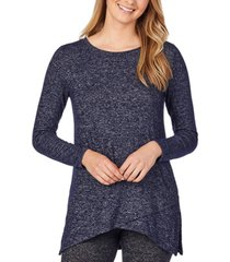 cuddl duds soft knit crossover tunic top
