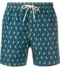 mc2 saint barth ice cream print swim shorts - blue