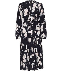 iris midi dress knälång klänning svart by ti mo
