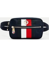 tommy hilfiger women's recycled flag fanny pack desert sky -