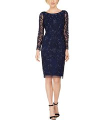 adrianna papell beaded sheath midi dress