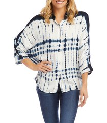 women's karen kane tie dye button front shirt