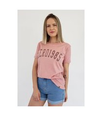 t-shirt aero jeans 1985 rosa