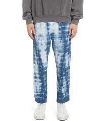 men's bdg urban outfitters tie dye corduroy pants, size 34 x 32 - blue