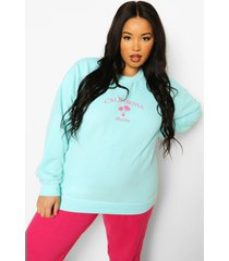plus california overdye sweater, aqua