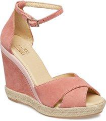 espadrilla 8940 sandalette med klack espadrilles rosa billi bi