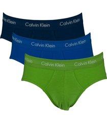 calvin klein slips ck 3pak groen-blauw