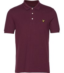 polo shirt polos short-sleeved röd lyle & scott