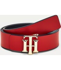tommy hilfiger women's reversible leather belt corporate mix - 36