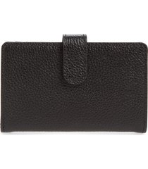 women's nordstrom kelly leather card case - black