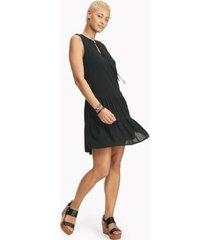 tommy hilfiger women's essential sleeveless crinkle gauze dress black - 2