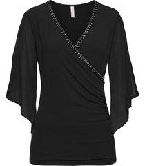 maglia con pietruzze (nero) - bodyflirt boutique