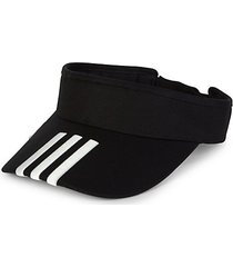 striped stretch-cotton visor