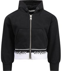 givenchy black sweatshirt for girl with logos
