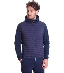mibax blue vest met hoodie