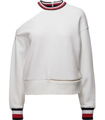 gigi hadid open shou sweat-shirt trui wit tommy hilfiger