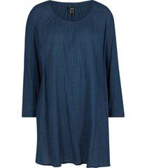 tunica lunga in cotone a maniche lunghe (blu) - bpc bonprix collection