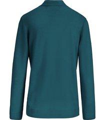 trui met staande kraag, model gudrun van peter hahn turquoise