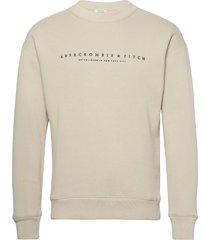 anf mens sweatshirts sweat-shirt tröja beige abercrombie & fitch