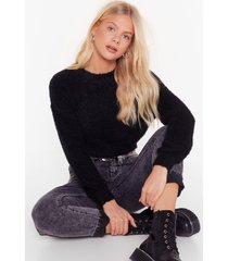 womens keep knit going cropped sweater - black