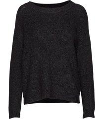 05 the knit pullover stickad tröja svart denim hunter