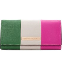 billetera larga francisca verde multicolor sarah
