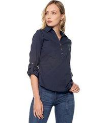 camisa azul navy active