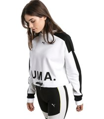 chase damessweater, wit, maat s | puma