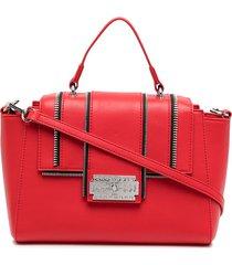 john richmond whaltam zipper detail tote - red