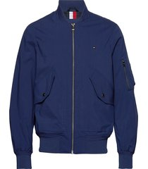 light weight cotton flex bomber bomberjack jack blauw tommy hilfiger