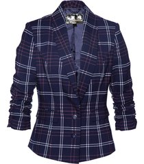 blazer a quadri (blu) - bpc selection