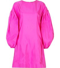adam lippes bell sleeved dress - pink