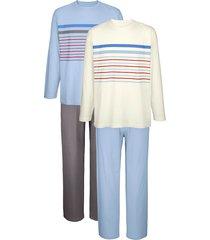 pyjama's roger kent 1x lichtblauw, 1x ecru