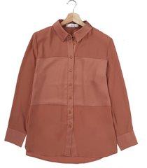 blusa marrón mng
