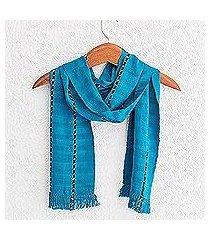 cotton scarf, 'youthful waters' (guatemala)