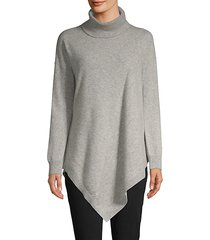 asymmetric cashmere turtleneck sweater