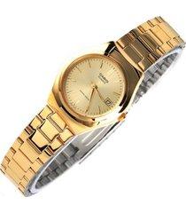 reloj casio ltp-1170n- dorado para dama