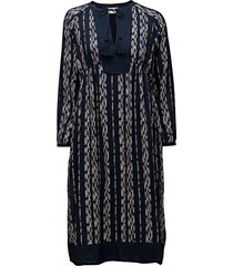 helena dress jurk knielengte blauw lexington clothing