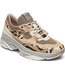 slfgavina trainer b sneakers skor beige selected femme